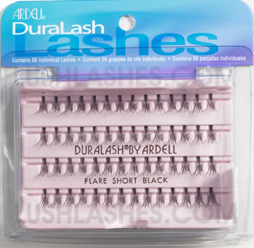 Individual False Eyelashes with  lengths from  6mm to 12mm.