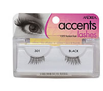 Half (DOLL) False Eyelashes for sides of eyes. Andrea Accents Human Hair Lashes #301